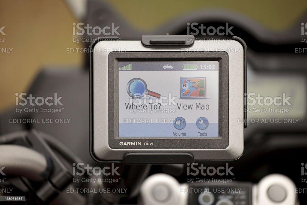 Motorcycle GPS stock photo