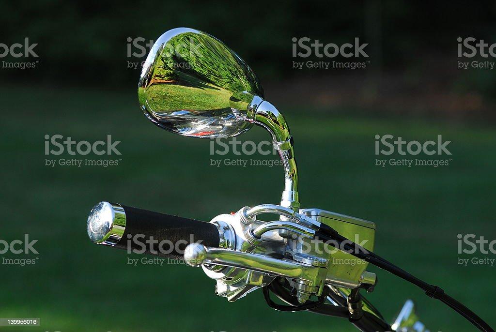 Motorcycle Handlebar royalty-free stock photo
