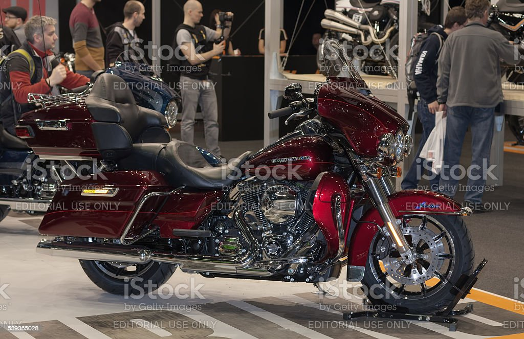 Motorcycle Harley Davidson Touring Ultra Limited Low at Internat stock photo