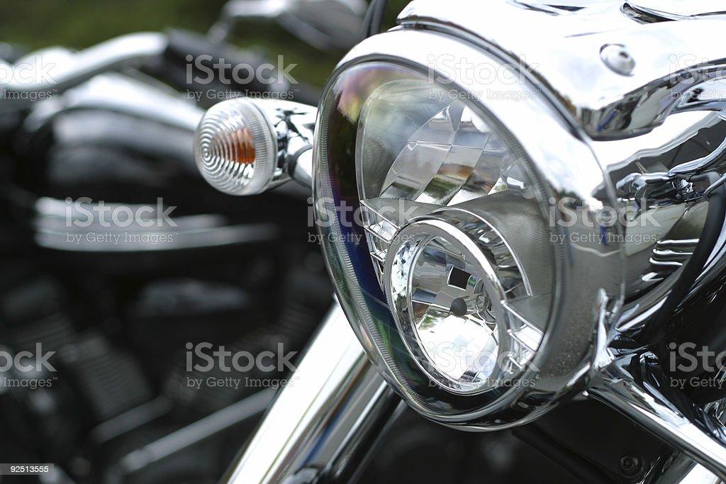 Motorcycle Headlight royalty-free stock photo