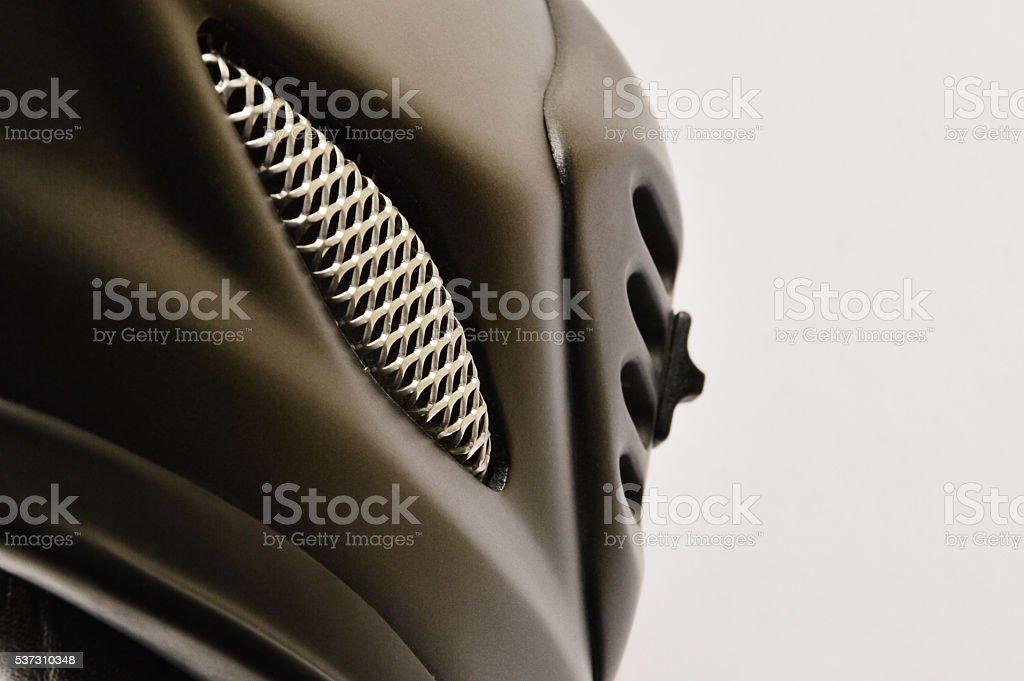 Motorcycle Helmet Details stock photo