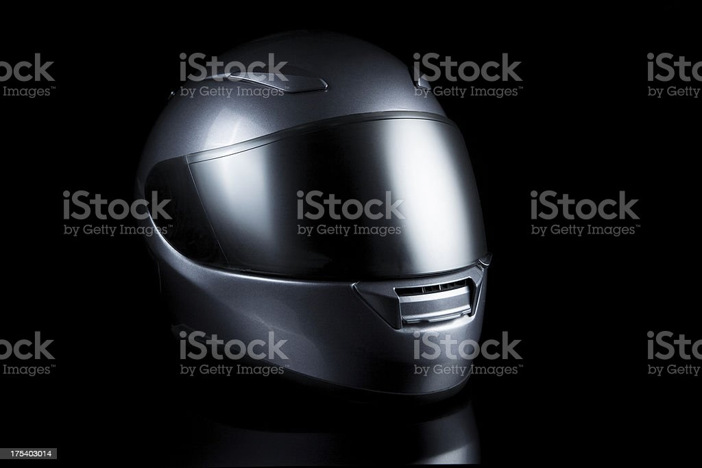 motorcycle helmet on black stock photo