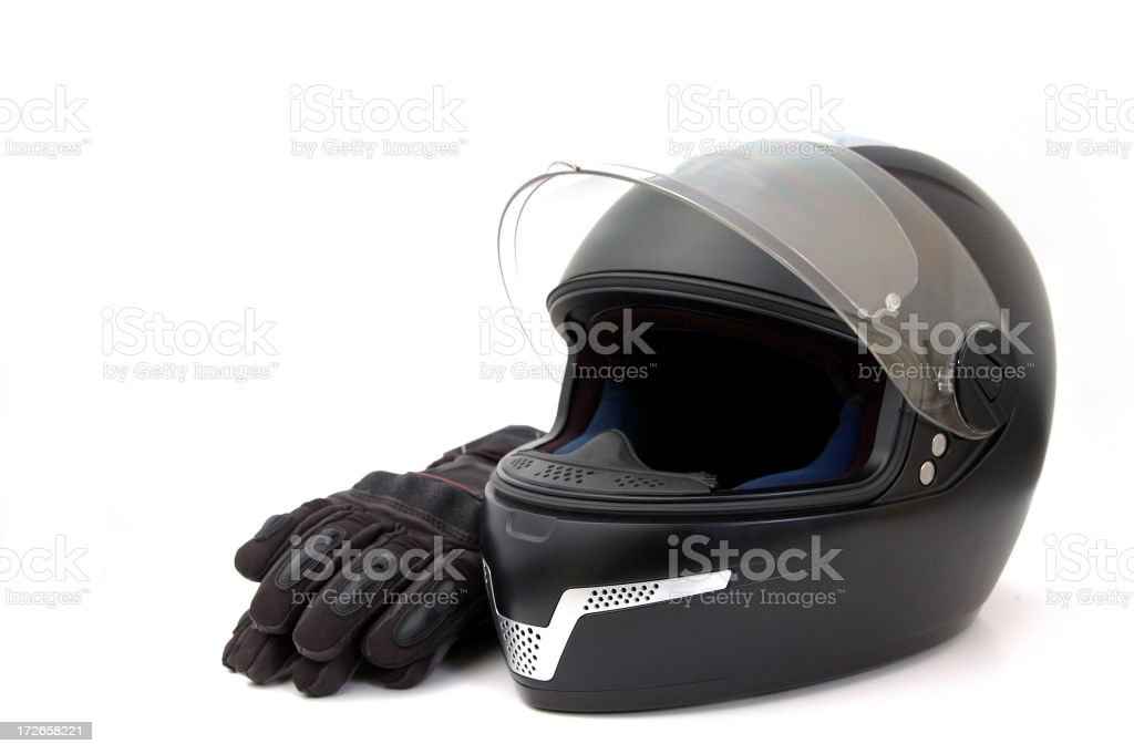 motorcycle helmet royalty-free stock photo