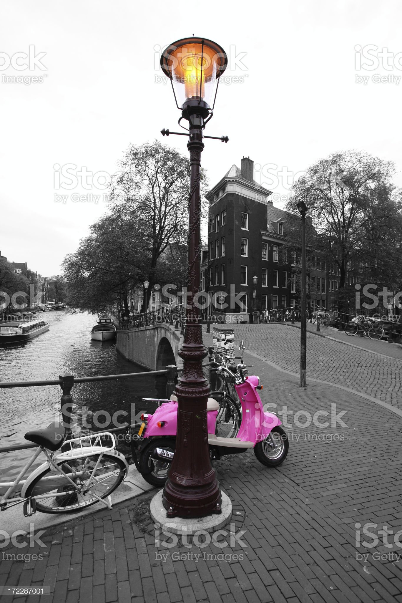 motorcycle in Amsterdam royalty-free stock photo