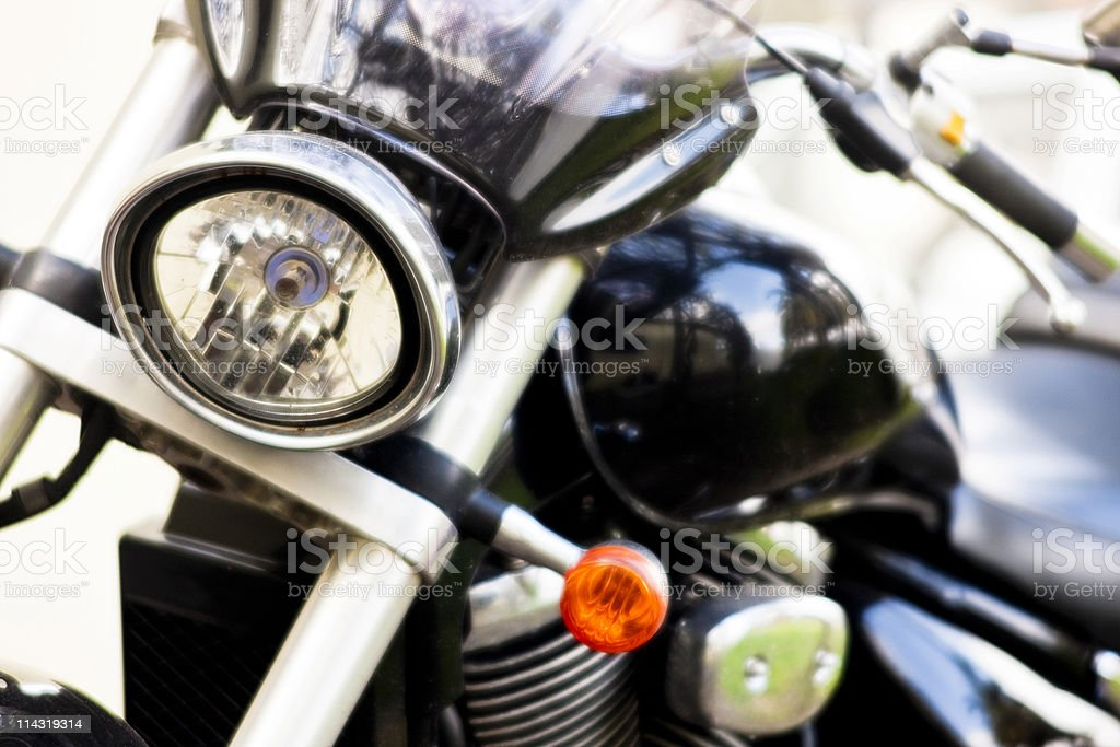 Motorcycle in soft focus royalty-free stock photo