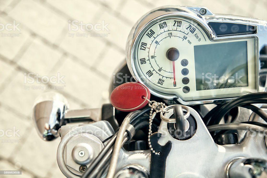Motorcycle Instrument Panel stock photo