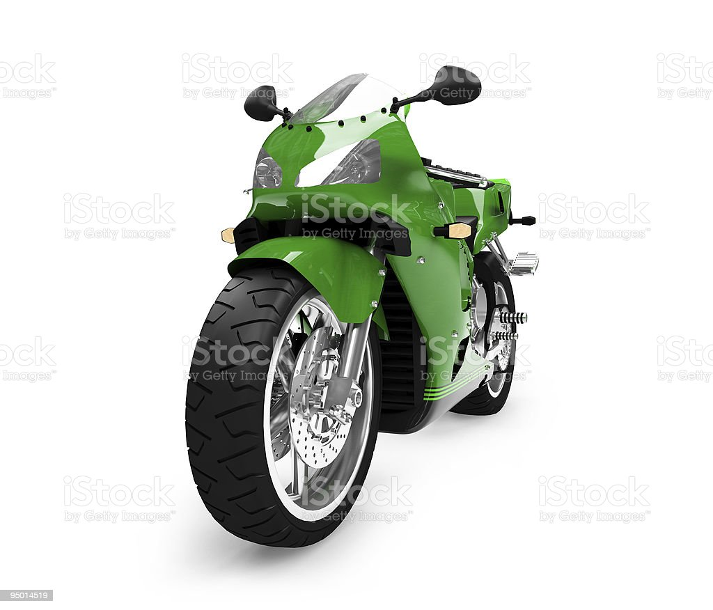 Motorcycle isolated view royalty-free stock photo