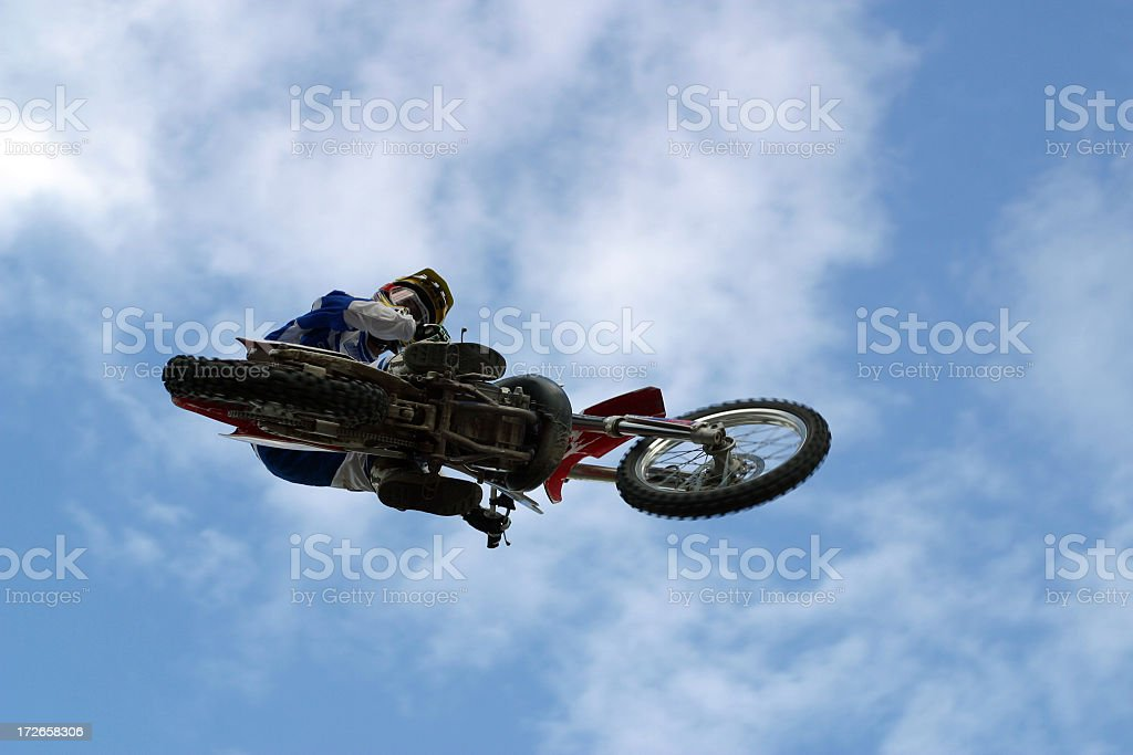 Motorcycle Jump stock photo