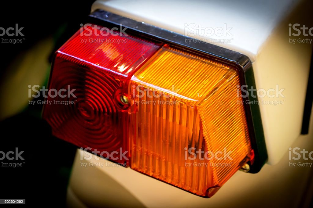 Motorcycle Lights lamp stock photo