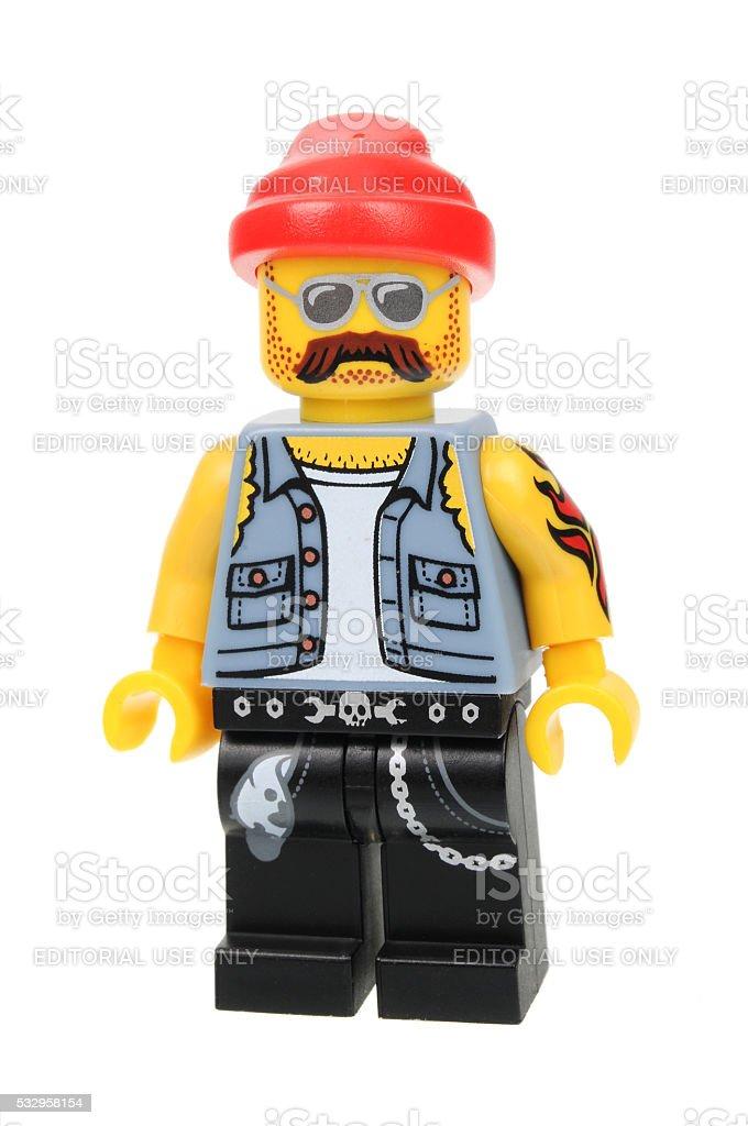 Motorcycle Mechanic Series 10 Lego Minifigure stock photo