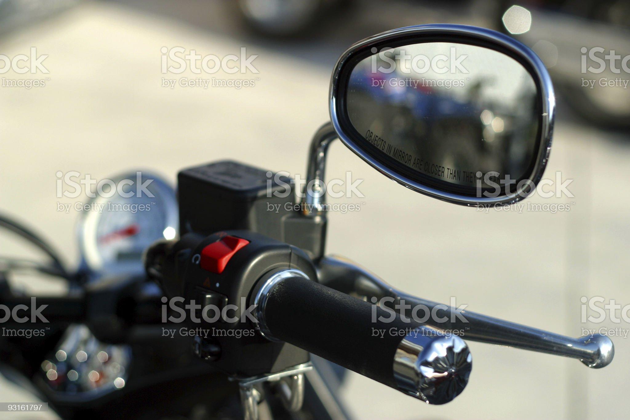 Motorcycle Mirror royalty-free stock photo