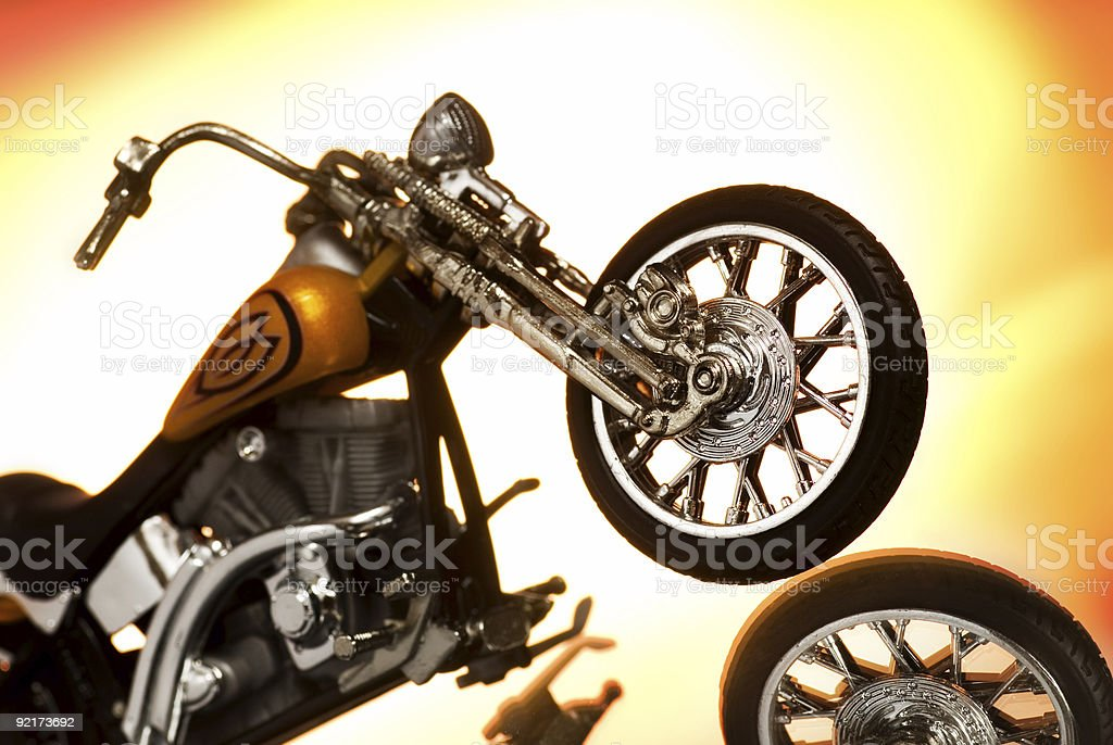 Motorcycle on abstract background royalty-free stock photo