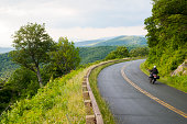 Motorcycle on the Blue Ridge Parkway