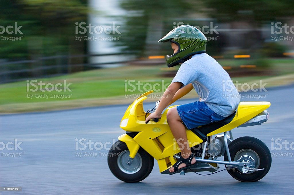 Motorcycle Panning Blur royalty-free stock photo