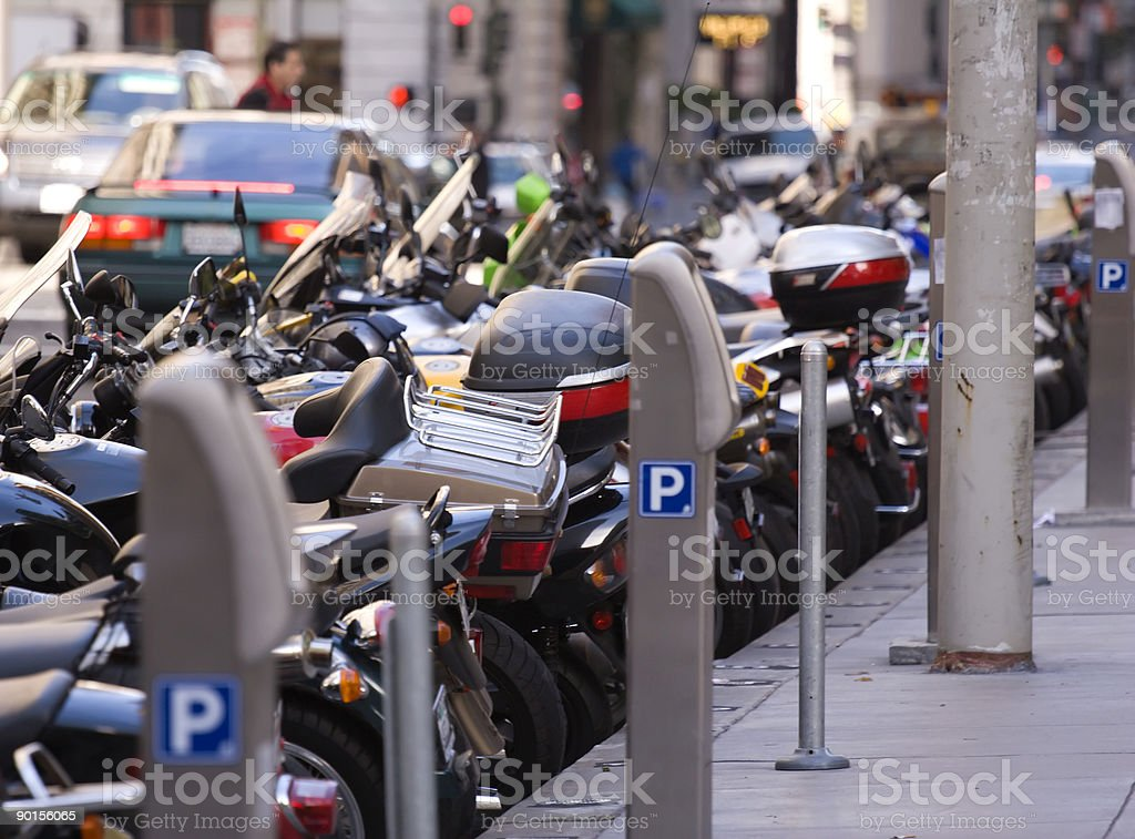 Motorcycle Parking royalty-free stock photo