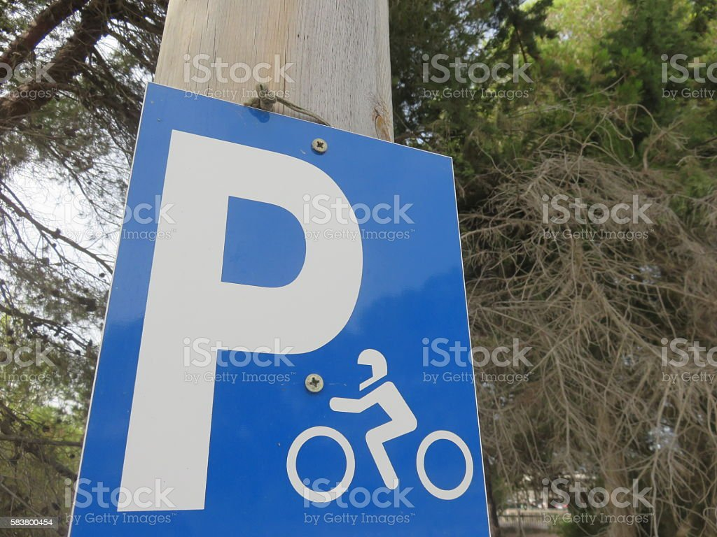 Motorcycle parking Sign stock photo