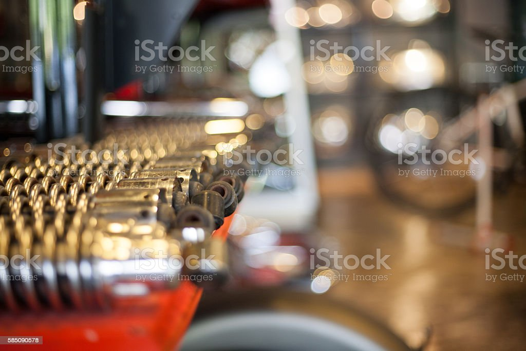motorcycle parts stock photo