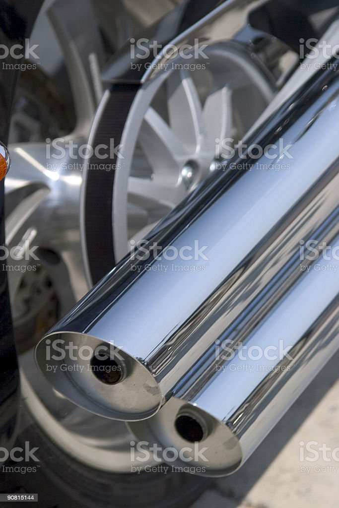 Motorcycle Pipes stock photo
