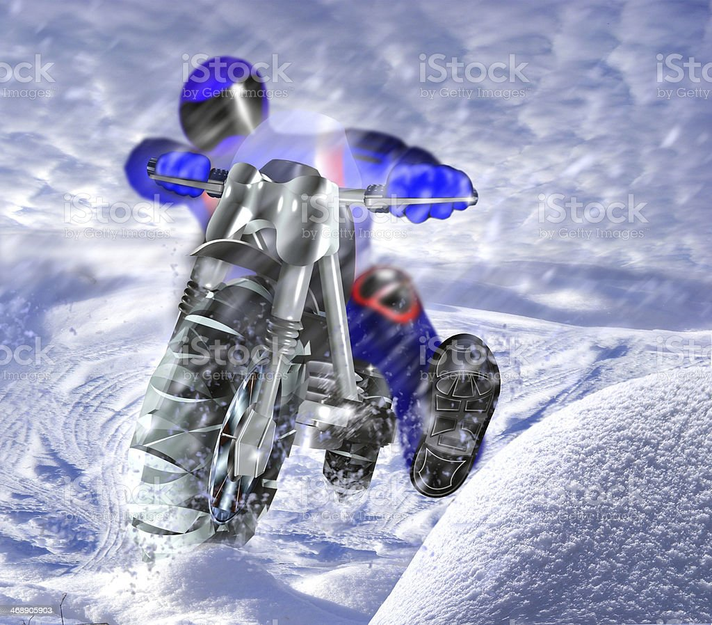 motorcycle race royalty-free stock photo