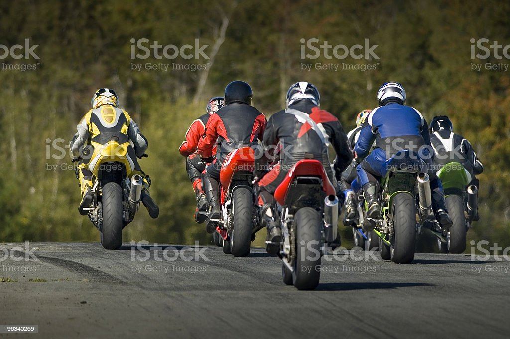 Motorcycle Racing royalty-free stock photo