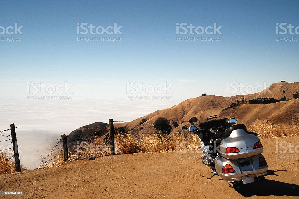 Motorcycle rest stop royalty-free stock photo