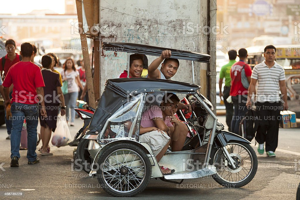 Motorcycle rickshaw known as a
