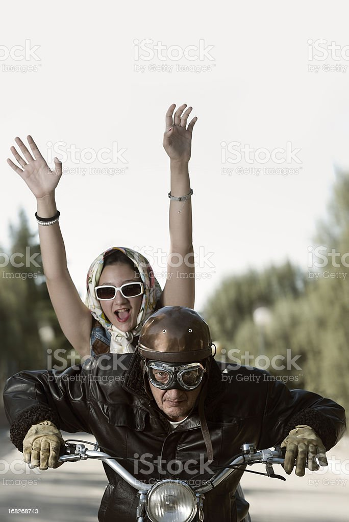 Motorcycle ride royalty-free stock photo