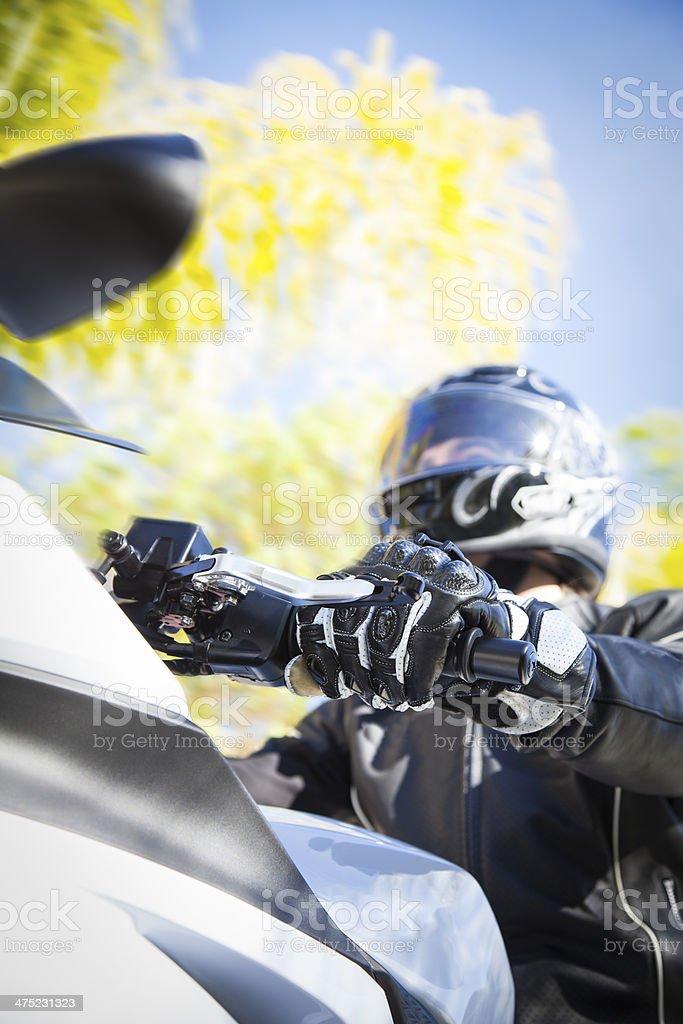 Motorcycle Rider royalty-free stock photo