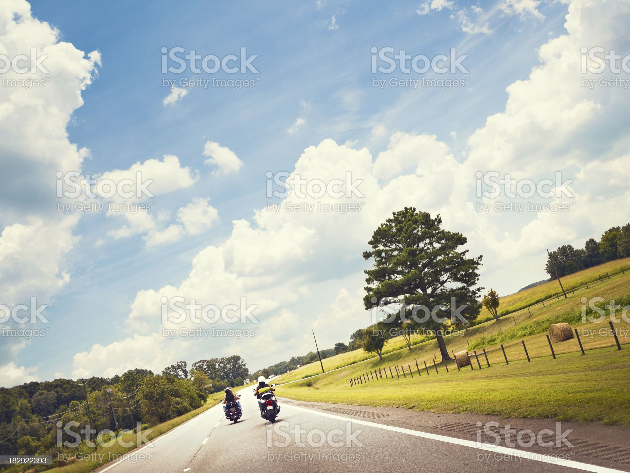 motorcycle riding royalty-free stock photo
