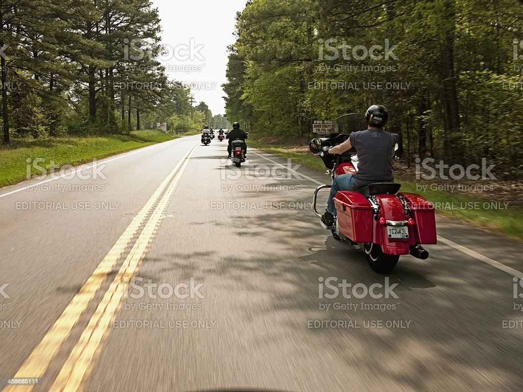 motorcycle road trip stock photo