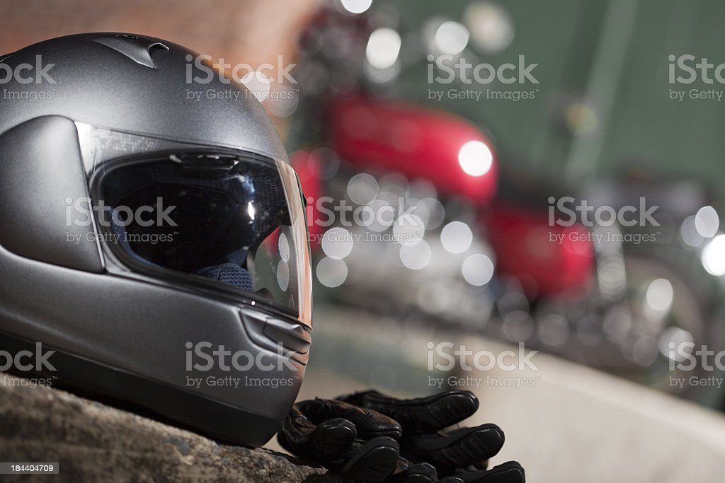 Motorcycle Safety Gear royalty-free stock photo