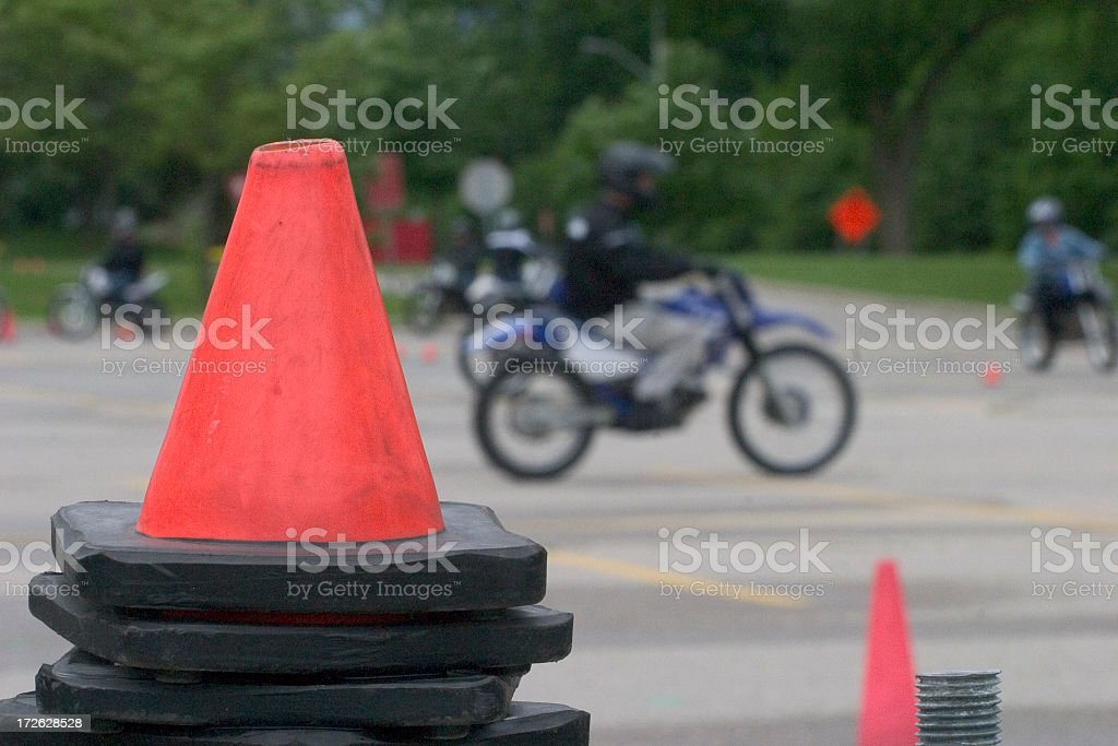 Motorcycle School royalty-free stock photo