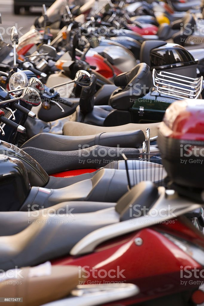 Motorcycle Seats royalty-free stock photo