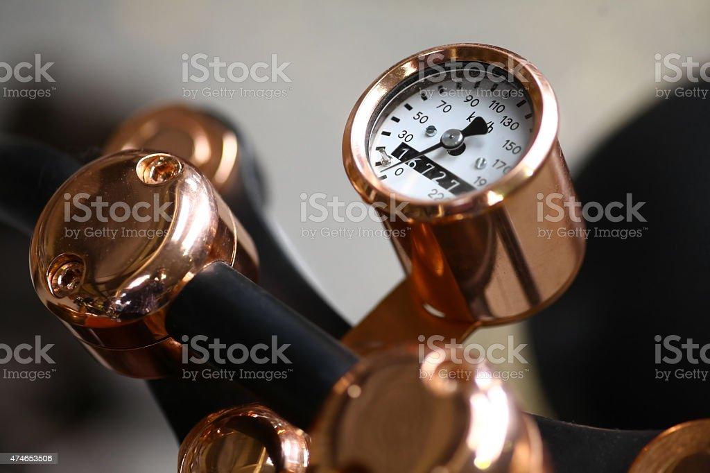 Motorcycle speedometer stock photo