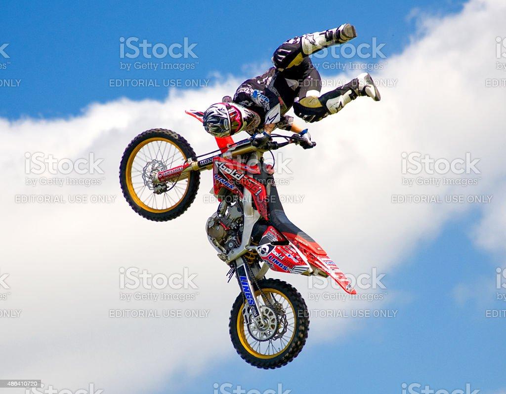 Motorcycle Stunt Team stock photo