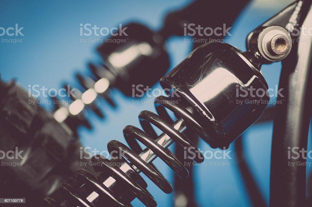 Motorcycle suspension stock photo