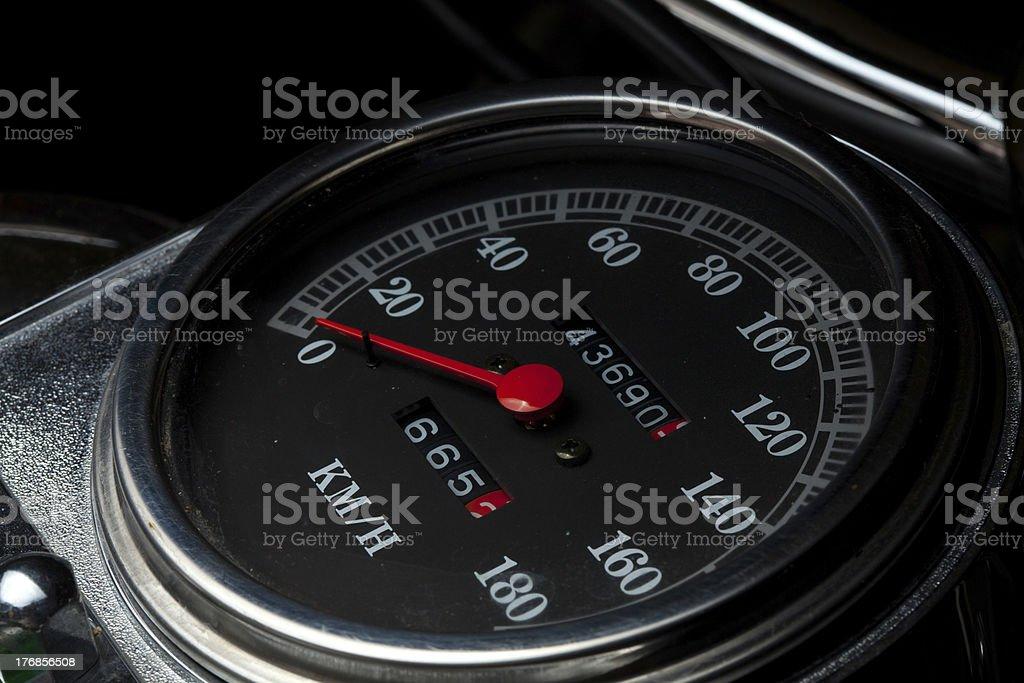 motorcycle tacho stock photo
