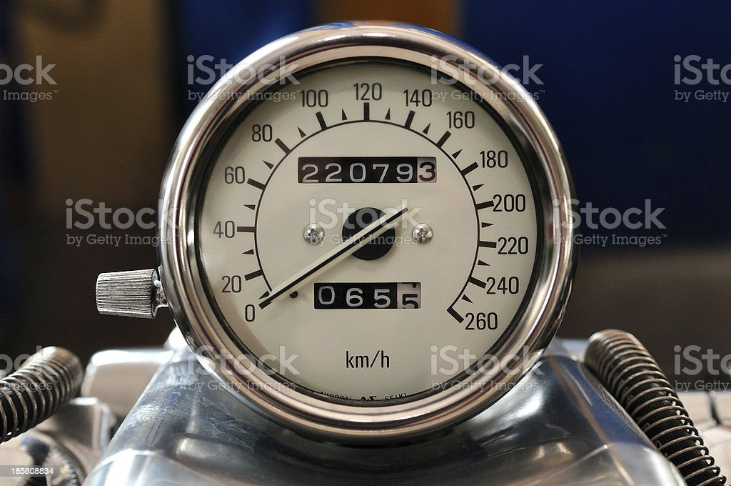 Motorcycle tachometer. royalty-free stock photo