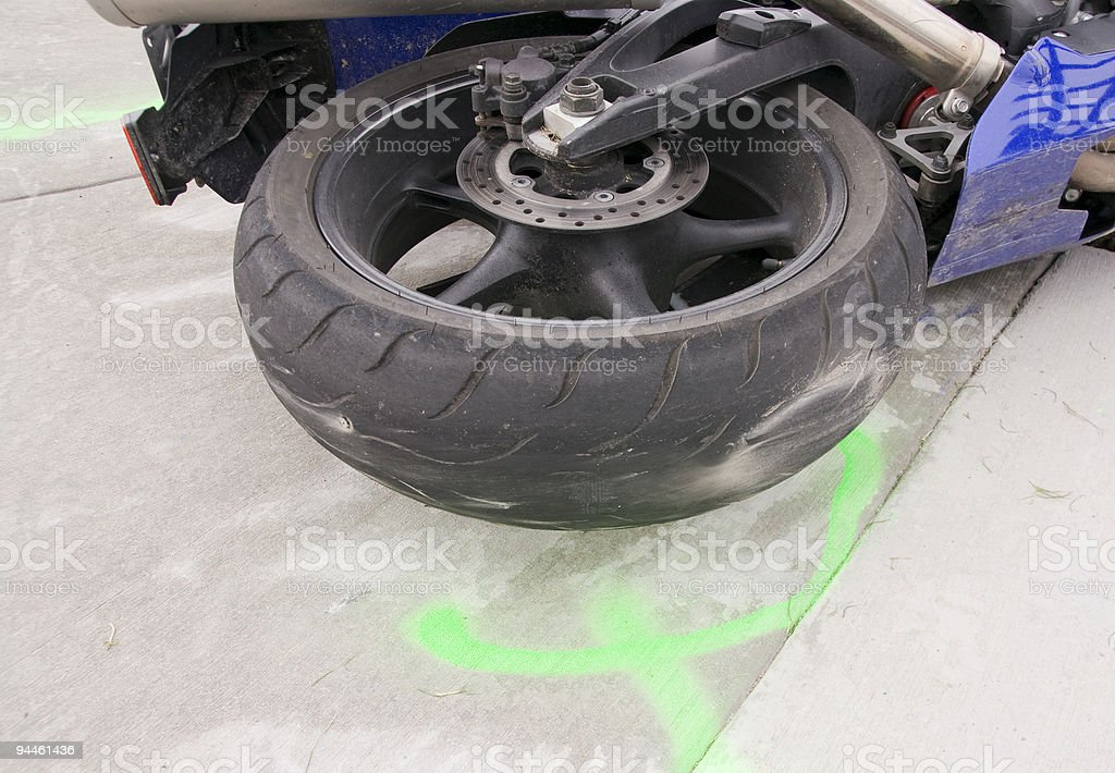 Motorcycle Tire royalty-free stock photo