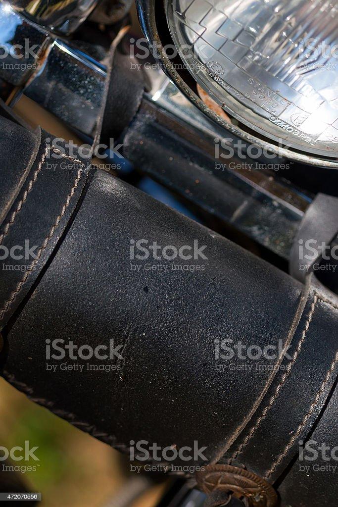Ferramenta de motocicleta bolsa close-up foto royalty-free