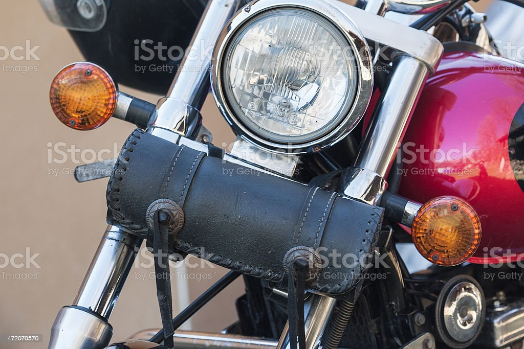Ferramenta de motocicleta bolsa close-up foto royalty-free
