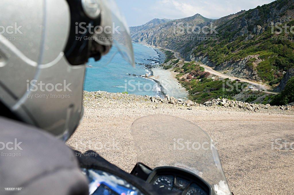 Motorcycle Tour On Seaside / Turkey stock photo