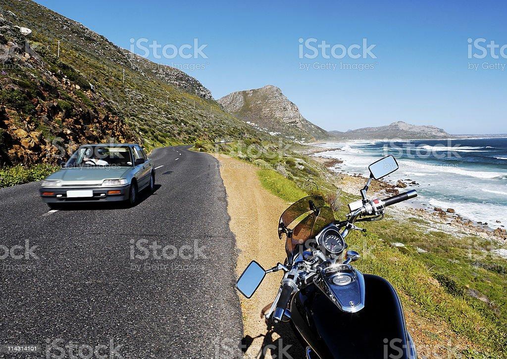 Motorcycle touring stock photo