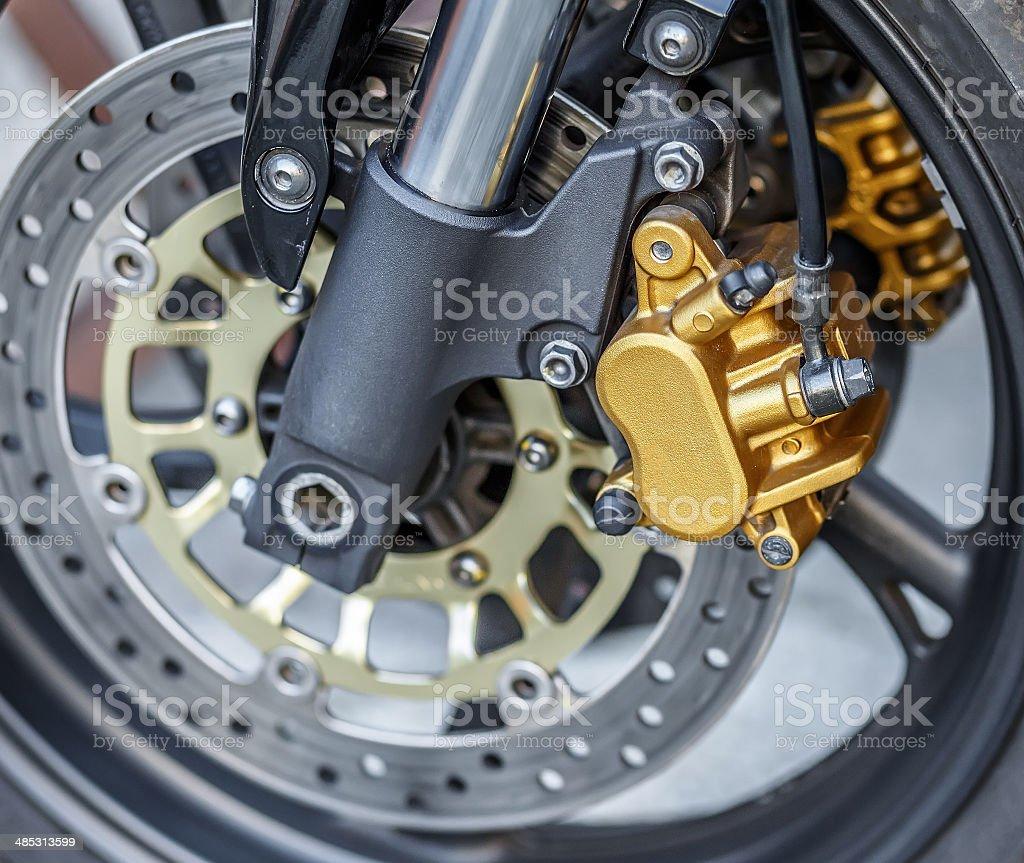 motorcycle wheel brake background in motorbike, motorcycle wheel stock photo