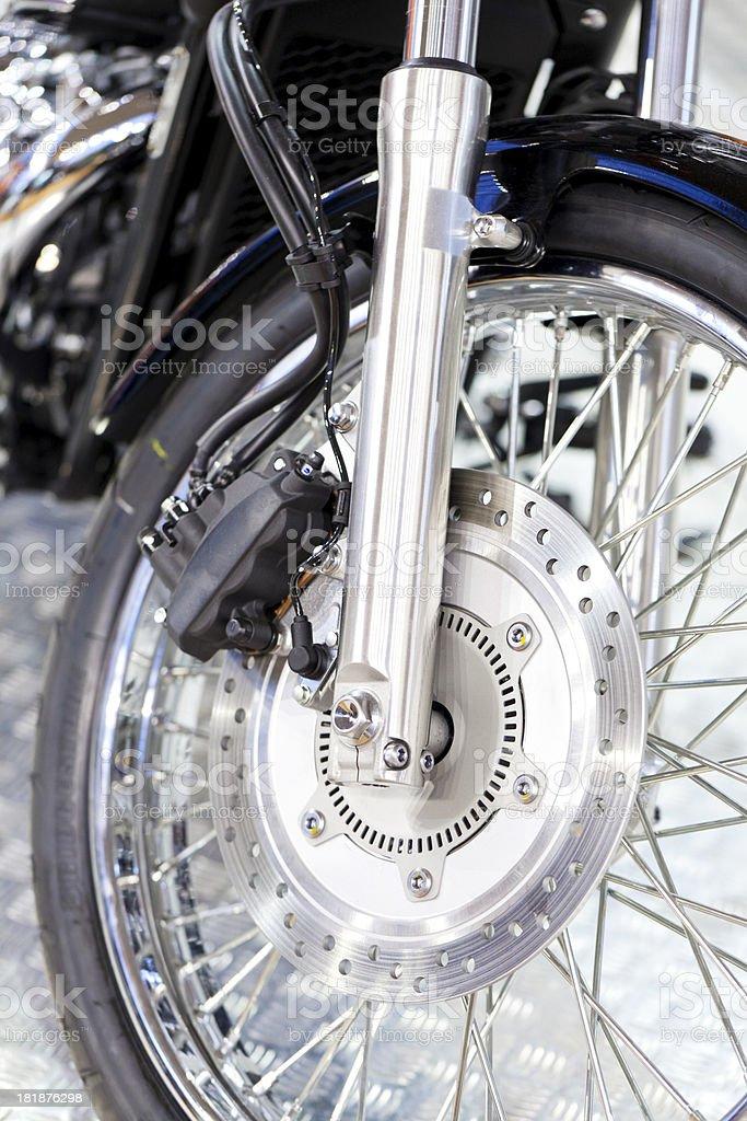 Motorcycle wheel royalty-free stock photo