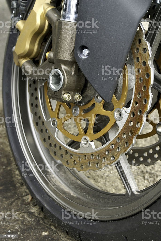 Motorcycle Wheel royalty-free stock photo