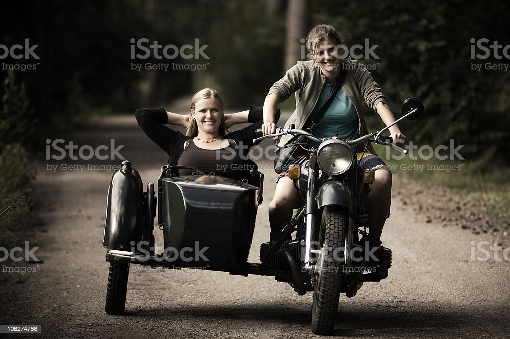 Motorcycle with Sidecar stock photo