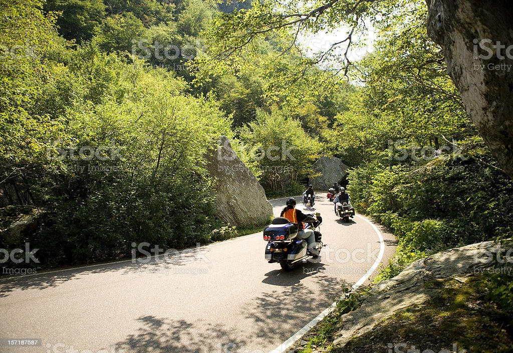 Motorcycles in the Mountains stock photo