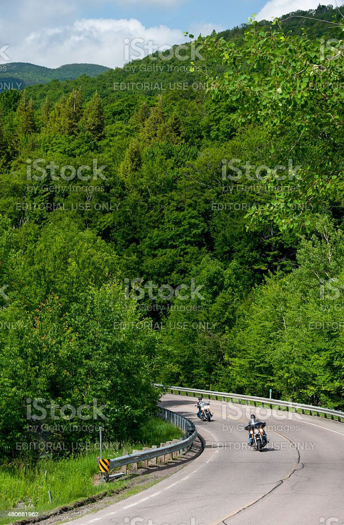 Motorcycles In Vermont stock photo