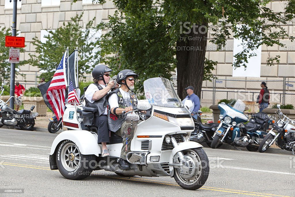 Motorcycles in Washington DC for Rolling Thunder stock photo